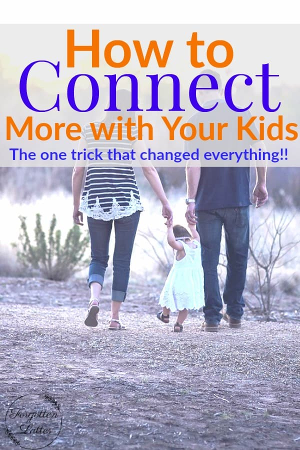 If you're looking for ways to connect with your kids more, this one simple parenting tip could make the world of difference for you!  #parentingtips #connectwithyourkids #parenting #motherhood