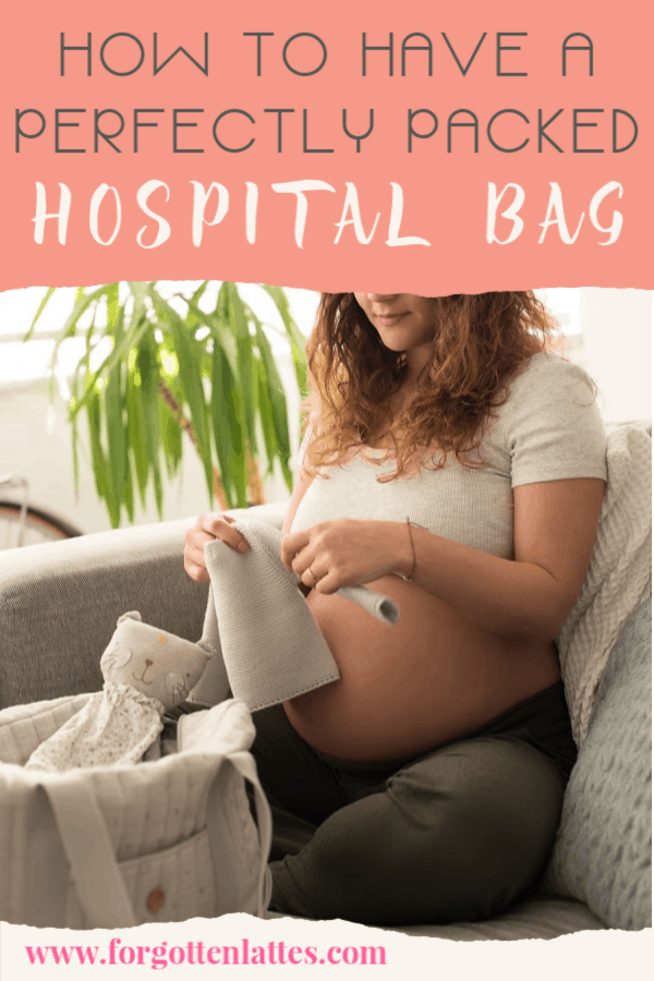 how to have a perfectly packed hospital bag- a pregnant woman packing her hospital bag