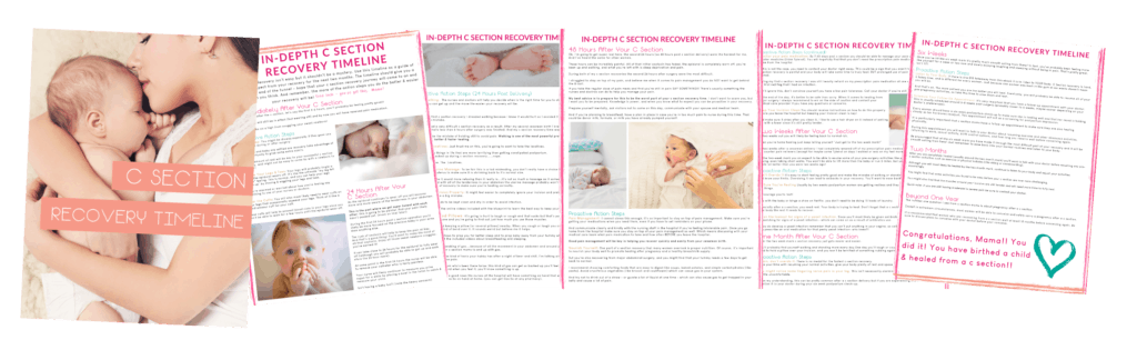 The complete C Section Recovery Timeline.....a week-by-week guide to c section recovery.
